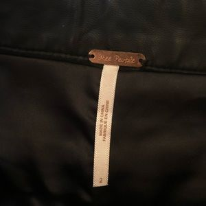 Free People Shorts - Free People Black Faux Leather Shorts (2)